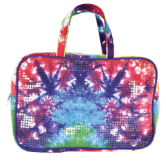 Sequin Tie Dye Large Cosmetic Bag