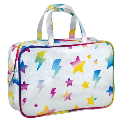 Stars and Lightning Large Cosmetic Bag