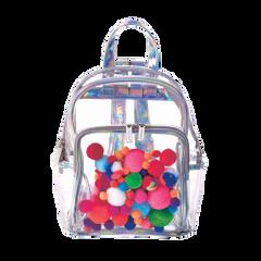 Mini Pom Pom Clear Backpack