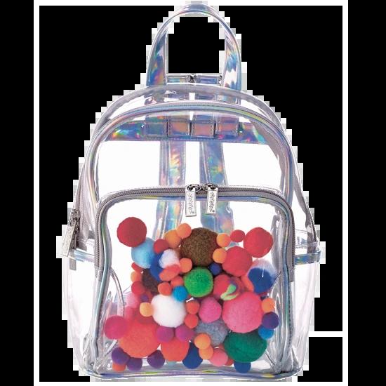 Pom Pom Clear Backpack