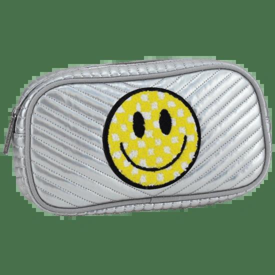 Checkered Smiley Face Chevron Small Cosmetic Bag