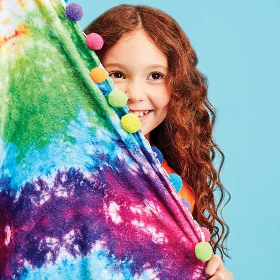Rainbow Tie Dye Plush Blanket