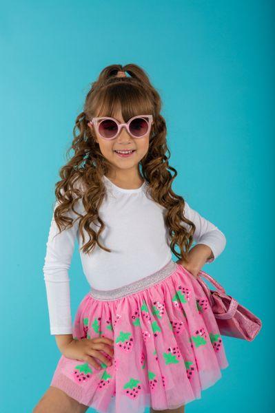 Strawberry Sequin Tutu Skirt