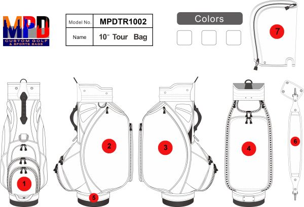 MPD Custom Golf Tour Staff Bag