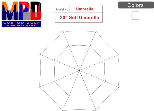 MPD Custom Golf Umbrella