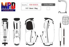 MPD Custom Golf Single Strap Carry Stand Bag