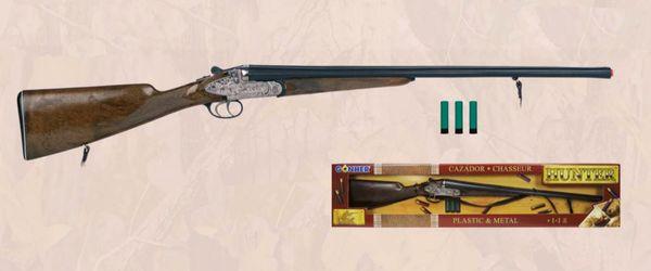 "Gonher Beretta Style Side by Side Shotgun 34"" Long Diecast Cap Gun Rifle"