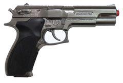 Gonher S&W Style Police 8 Shot Diecast Cap Gun - Silver
