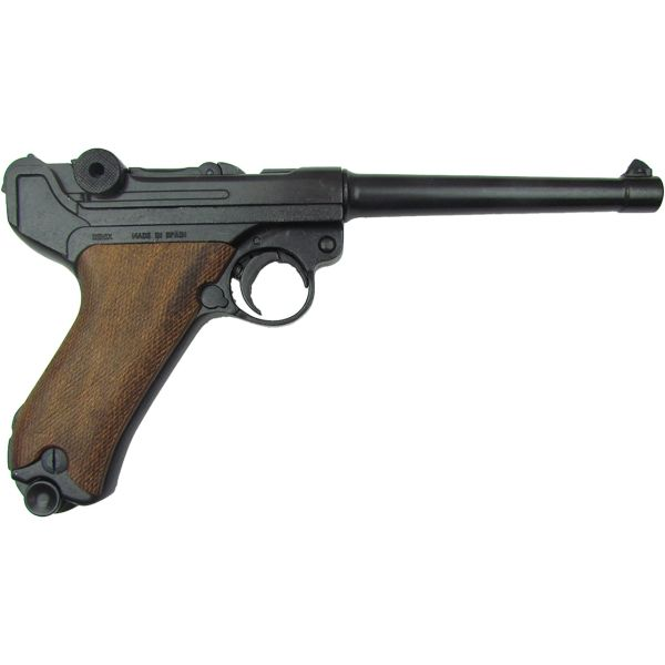 Denix German Luger Naval P-08 Non-Firing Replica with Wood Grips