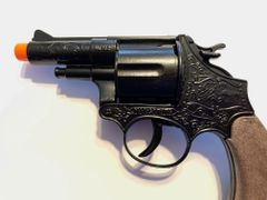 Gonher Police Series Colt 12 Shot Cap Gun Revolver - Black