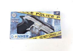 Case of 24 Gonher S&W Style Police 8 Shot Diecast Cap Gun - Silver