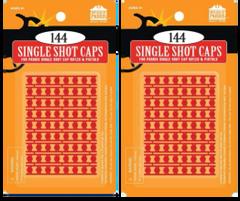 Pack of 2 144 Single Shot Caps Refill for Gonher & Upland Shotgun Cap Guns