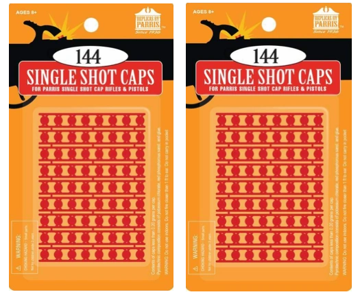 Pack of 2 144 Single Shot Caps Refill for Gonher & Upland Shotgun Cap Guns
