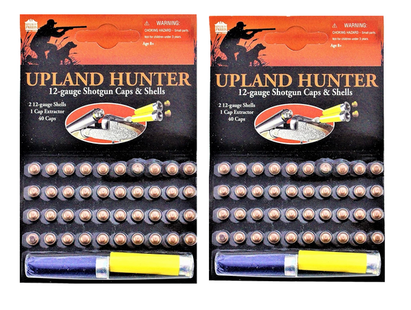 Pack of 2 Single Shot Caps Refill & Shell Gonher & Upland Shotgun Cap Guns