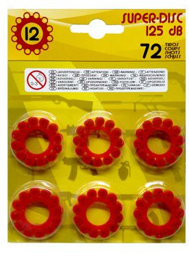 3-Pack 12-Shot Plastic Ring Caps for Gonher Cap Guns