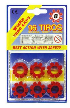 5 pack of 12x 8-Shot Ring Caps Refill for Gonher Cap Guns