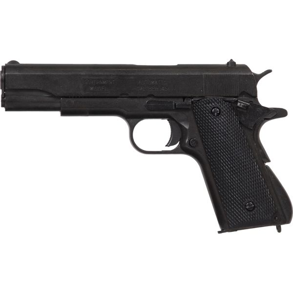 Replica M1911A1 Black Finish Black Composite Grips Field Strippable Automatic Pistol Non-Firing Gun