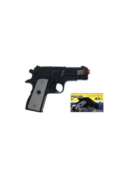 GONHER 9mm Beretta Style Police 8-shot Diecast Cap Gun Revolver - BLACK