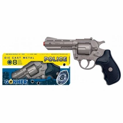 GONHER 357 Magnum Style 8-shot cap gun - Silver Finish