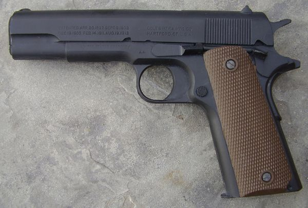 M1911 WWII Colt Pistol Parkerized Finish