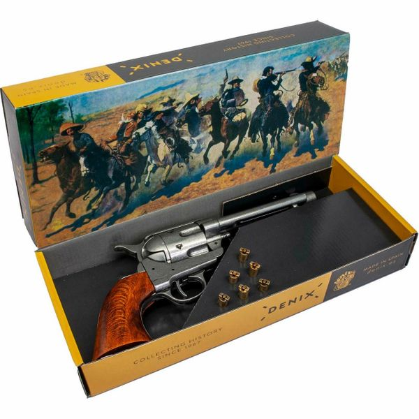Old West Frontier Replica Antique Grey Replica Revolver Non-Firing Gun - Boxed