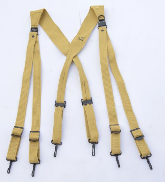 WWII US Army M1936 Combat Suspenders Reproduction