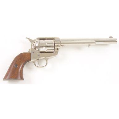 Old West 1873 Cavalry Pistol Nickel Finish Non-Firing Gun - CHOOSE your GRIPS