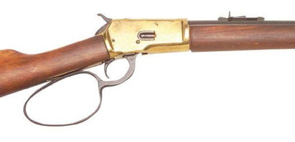 M1892 Large Loop Winchester Movie Version Western Carbine Replica - Antique Brass