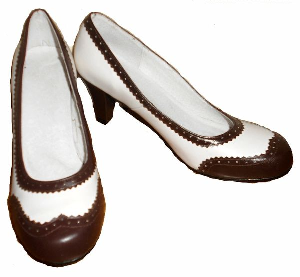 1940 TWO TONE Brown & White Spectators ​Women Shoes