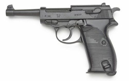 WWII German P-38 Semi Automatic Pistol, Non-Firing Replica by Denix