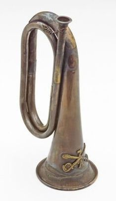 Civil War 7Th Cavalry Antiqued Bugle