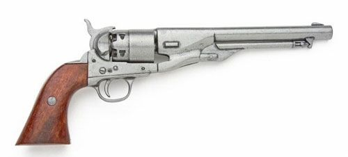 Civil War M1860 Antique Gray Finish Pistol