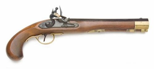 Colonial Kentucky Replica ​Flintlock Pistol Non-Firing