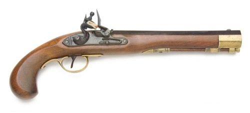 Colonial Kentucky Replica Flintlock Pistol Non-Firing
