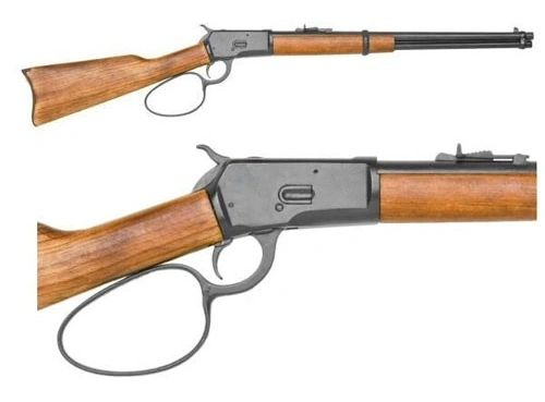 M1892 Large Loop Winchester Movie Version Western Carbine Replica - Antique Blued / Black