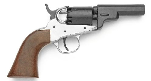 Old West Replica M1849 Nickel Finish Pocket Revolver