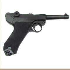 German Luger Parabellum P-08 WWI - WWII Black Grips Non-Firing Replica