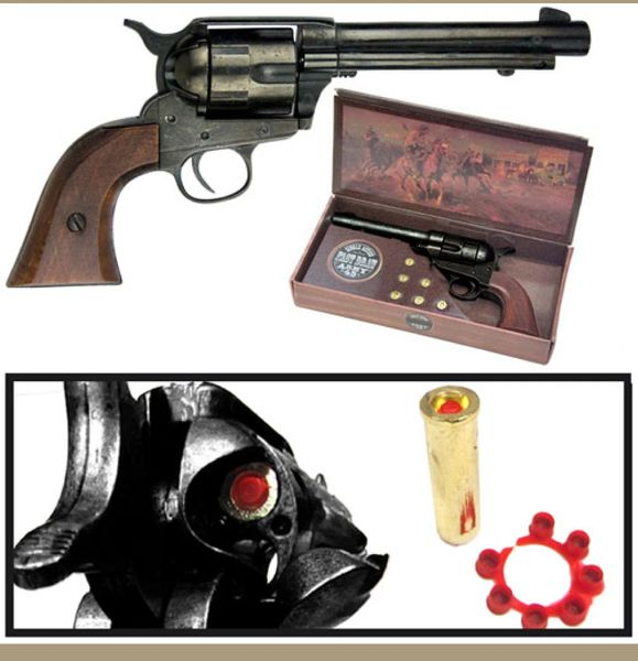 Old West Replica Blued Finish 1873 Army Pistol Cap Pistol