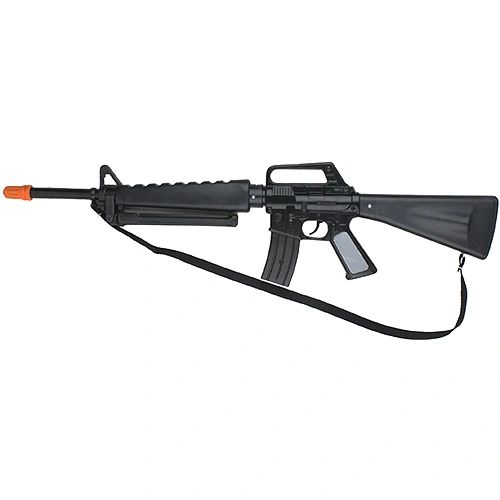 Gonher Toys US M-16 Style 8 Shot Cap Gun Rifle - Black Finish BACK-ORDER