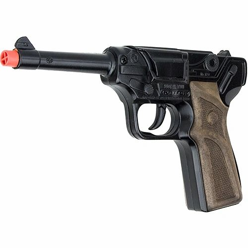 Gonher German Luger Style Pistol 8 Shot Die-Cast Cap Gun - Black Finish SOLD OUT