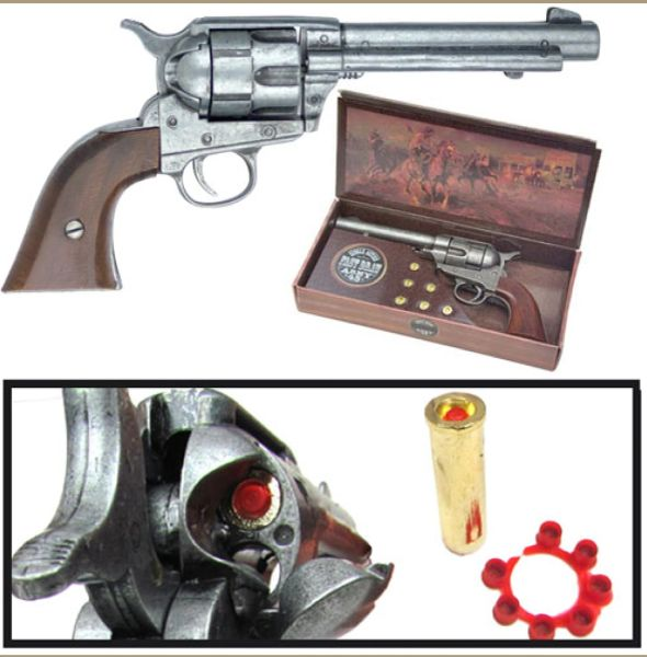 Old West Replica 1873 Army Pistol Gray Finish Cap Pistol Kolser of Spain