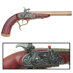 English Percussion Flintlock Dueling Pistol Cap Firing Full Size Replica