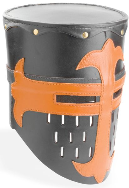 Knights Templar Crusader Practice Leather Helmet Medieval Armor Replica