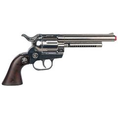 Gonher Cowboy Cavalry Style 12 Shot Cap Gun Revolver - Chrome