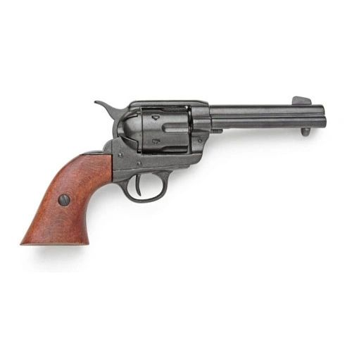 "Old West Replica 1873 Black Finish Quick Draw 4.75"" Barrel Revolver Non-Firing Gun"