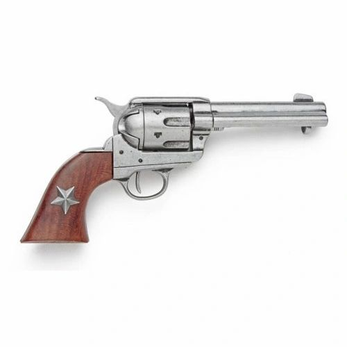 Old West 1873 Grey Finish Six Shooter Revolver Caps Firing Replica