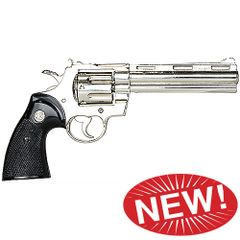 Zombie Killer Replica Nickel .357 Police Magnum 6 Barrel Non-Firing Gun