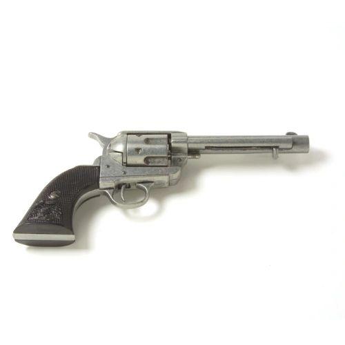 Old West 1873 Antique Grey Black Grip Replica Revolver Non-Firing Gun