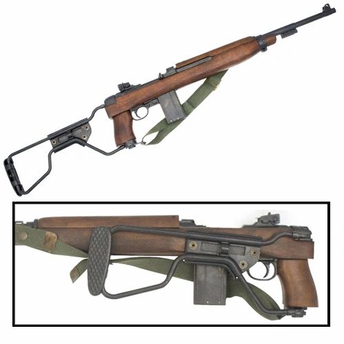 WWII Paratrooper M1A1 1944 Model Carbine Replica
