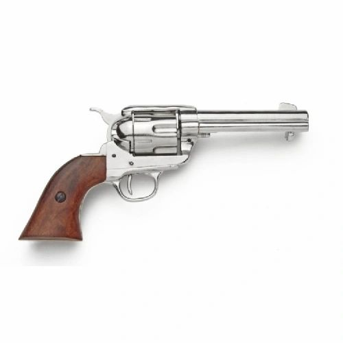 Old West Replica 1873 Nickel Finish Quick Draw Revolver